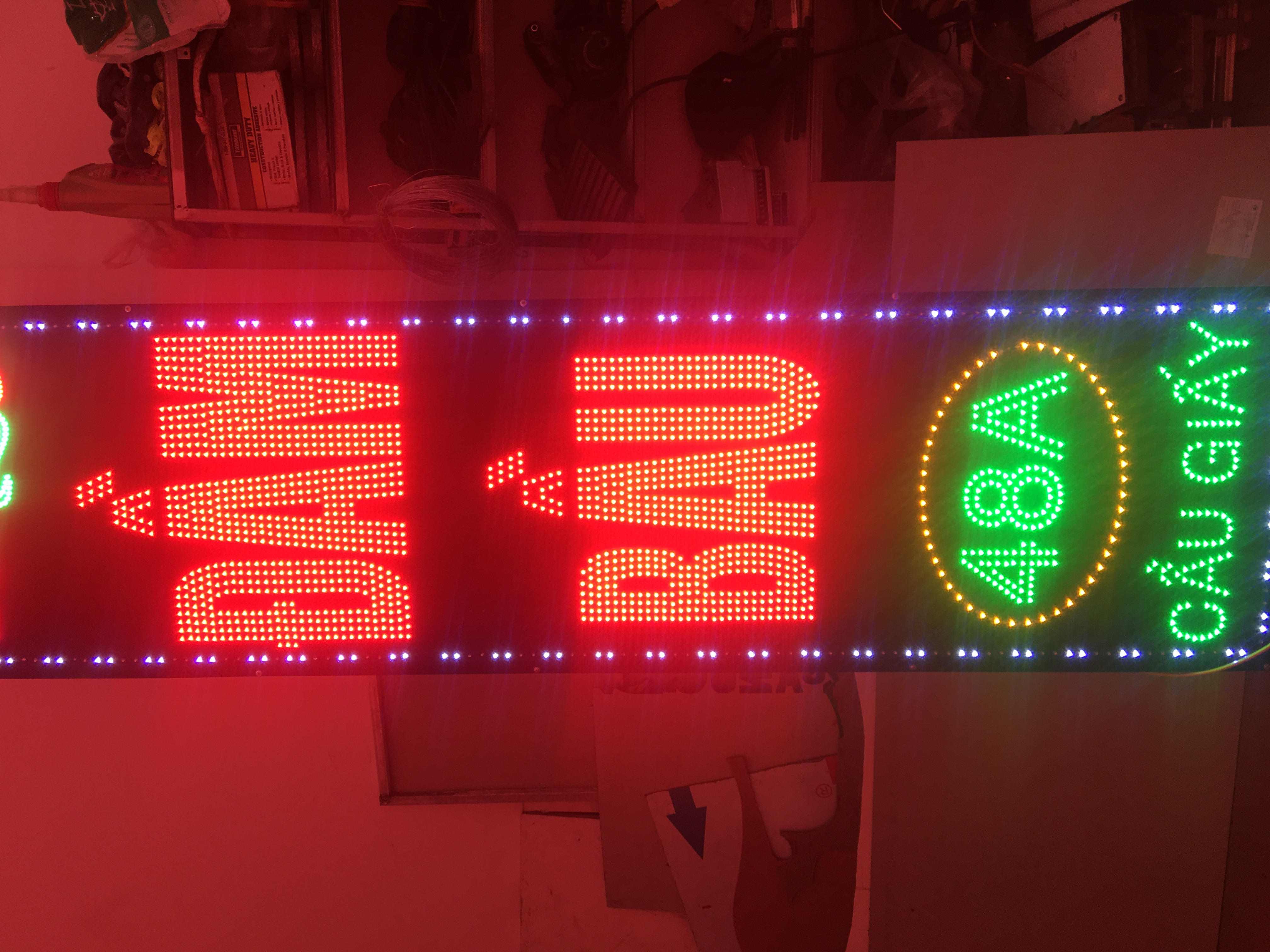 Biển LED vẫy đầm bầu, bien led vay dam bau